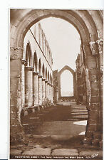 Yorkshire Postcard - Fountains Abbey - The Nave Through The West Door RP ZZ3545