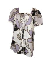 ANA Maternity Womens Vtg Floral Casual Summer Print Cotton Blouse Top sz XL AD65