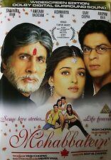 Mohabbatein (2000) Shahrukh Khan Amitabh Bachchan Aishwarya bollywood hindi dvd