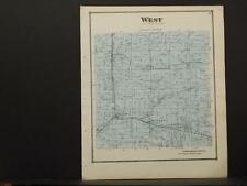 Ohio Columbia County Map West Township 1870 W1#72
