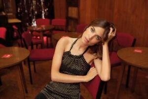 Alexa Chung For M&S Polka Dot Satin Dress Size 10 NWOT Summer Wear