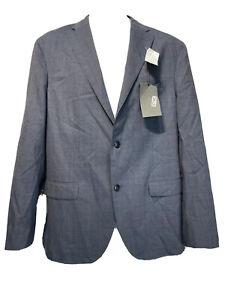 boglioli blue 2 Button Front blazer mens size 52 R