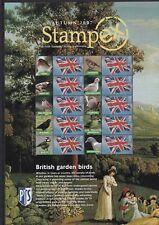 More details for 2007 royal mint smilers stamp sheet stampex autumn british birds 10 mnh 1st