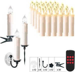 30er Kabellose LED Weihnachtskerzen Weihnachtsbaumbeleuchtung Lichterkette RGB