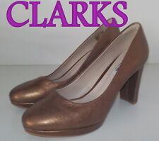 """Fabulous """"CLARKS"""" NARRATIVE COPPER COLOUR  Leather Court Shoes UK 6.5 EU 40 £75"""
