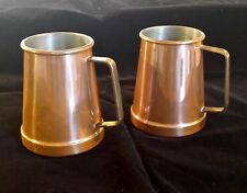Pewter Tankards Copper Flash, Vintage Barware Collectibles - Lot of 2