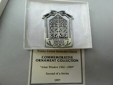 TOKEN MEDALLION CHRISTMAS ORNAMENT TRINITY METHODIST CHURCH MIDDLEBURY 1997 ALTA