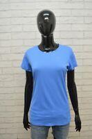 NIKE Maglia Donna Taglia L Blusa Manica Corta Shirt Jersey Polo Elastica Celeste