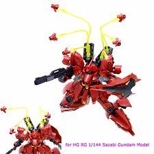 EffectsWings Clear Yellow Funnel Effect kits for HG RG 1/144 Sazabi Gundam Model