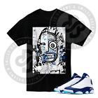 Masterpiece T Shirt for Jordan 13 Obsidian Powder Blue Carolina All Sizes