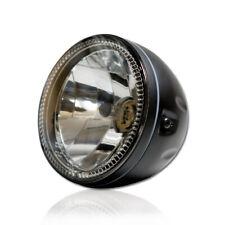 5 3/4 Zoll 14cm Klarglas Scheinwerfer schwarz H4 mit LED-Standlicht headlight