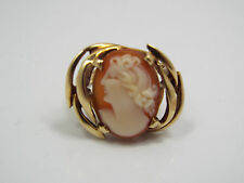 Vintage 10K Yellow Gold Cameo Ring, size 5