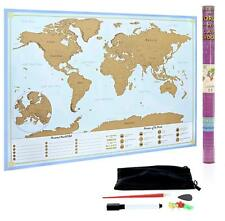 XL Scratch Off Map of The World – Bucket List Features | Wonders of The World |