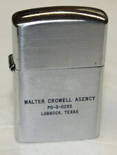 Vintage Advertising Lighter - Walter Crowell - Lubbock Texas - Never Used -Works