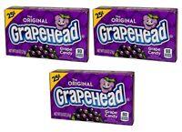 3x The Original Grapehead Grape Candy American Sweets