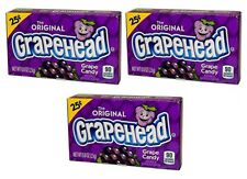 3x The Original Grapehead Grape Candy American Sweets