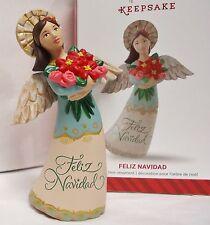 HALLMARK 2014 Feliz Navidad Angel Ornament NEW in BOX