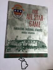 1951 All Star Game Baseball Original Program in Detroit, MI Tigers G+