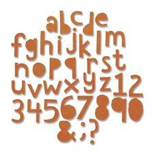 Sizzix Thinlits Cutting Die Set - Alphanumeric Cutout Lower - 663074 102pk