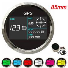85mm Boat Car GPS Speedometer Digital LCD Speed Gauge Odometer Course w/ Antenna