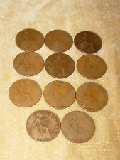 11x GEORGE V PENNY COINS PENNIES 1911-1916 WW1 CIRCULATED USED PENNY COLLECTABLE
