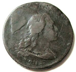 1794 UNITED STATES LIBERTY CAP FLOWING HAIR LARGE CENT TYPE COIN GOOD