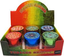 "1.9"" Aluminum Grinder 3 Piece Tobacco Herb Spice Grinder Candy Colors"