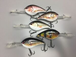 5X 130mm Fishing Lure Crankbait Hard Body Cod Bass Bream Perch Trout Pro Tackle