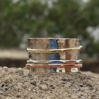 Solid 925 Sterling Silver Spinner Ring Meditation Ring Statement Rings Jewelry