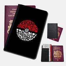 POKEMON POKEBALL CHARACTERS Passport Holder Travel  Protection Flip Cover Case