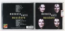 Cd MANUELA VALLI Maschere - Flash Music 1998 PERFETTO