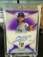 2020 Topps Definitive Collection Bo Bichette RC Purple On Card Auto /10 SP Rare!
