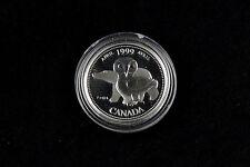 25 Cent 1999 Kanada Millenium 2000 April Canada Silber 925 PP