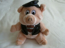 "Vtg 1998 Harley Davidson Biker Hog Pig 12"" Plush Stuffed Animal Vest Cap Play by"