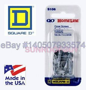 Square D QO/HomeLine Panel Cover Screw Set  (6/pk) (S106) - NEW GENUINE