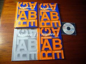 Saxon Algebra 1 3rd Ed Textbook Solutions Manual Homeschool Packet Test Forms CD