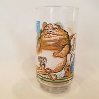 Star Wars Return of the Jedi Burger King Glass 1983 Jabba & Princess Leia Slave