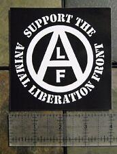 "4x4"" Animal Liberation Front ALF Vinyl Waterproof Sticker Rights Vegan Bumper"