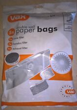 Genuine New VAX Canister Models 5 Vacuum Bags & Filters  Part No 1-9-125401-00