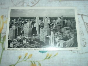 1936 Chicago Illinois LOOKING EAST FROM CIVIC BUILDING Wayne Paper Postcard