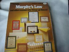Murphy's Law  & Other Reasons Why Things Go Wrong! Cross Stitch Patterns