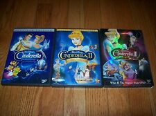 Walt Disney's Cinderella trilogy on DVD. I, II, III.