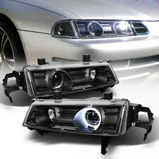 L+R Black Projector Headlight Halo Angel Eye For 92-96 HONDA PRELUDE Type-SH H22