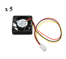 5 x 40mm PC Fan Silent Cooling Heat Computer Case 12V 3 Pin Wire Mini Black
