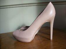 New!  Guess Nude Leather Peep Toe Platform Peep Toe Shoes Size UK 7  EU 41  US 9