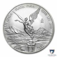 2018 1/4 oz Mexico Silver Libertad Coin (BU)