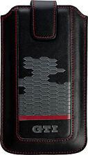 Volkswagen GTI Leder Universal Handy Tasche z.B.  Samsung G960 Galaxy S9