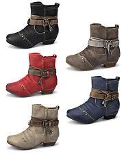 Damen Winter Stiefelette Boots Gefüttert Schuhe 3028