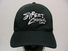 STREET CRIMES - BLACK - ONE SIZE ADJUSTABLE BALL CAP HAT!