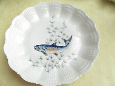 A. GIRAUD LIMOGES FRANCE minestre piatti, profondo 21 cm DECORO PESCE-N. 4
